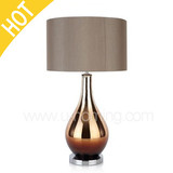 Modern Smoked Glass Table Lamp