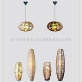 Pendant lamp with matching floor lamp and table lamp