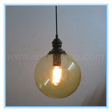 Color Glass Ball Pendant Lamp Fixture x 1