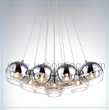 7 Heads Silver mirror glass ceiling pendant light