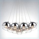 7 Light - Mirror Ball Glass Chandelier Light