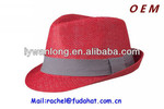 Fashion paper fedora hat cheap