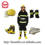 Fire Fighting Clothing set/Safety Helmet/Safety Belt/Rubber Boots/Gloves/Fireman protective Suit