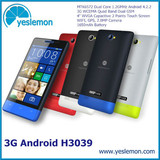 H3039 Android Cell Phone 4 inch Touch Screen Android Cellphone Dual Core Android 4.2.2 with 3G GPS WIFI 2MP Camera