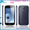 China Factory MTK6577 Dual Core Mobile Unlocked Mobile Phone 4 inch mini S3 Touch Screen 3G android4.2.2 Smart cellphone