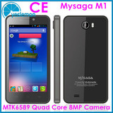 MTK6589 Phone Mysaga M1 Quad Core Mobile Phone 1.2GHz Android 4.2 Smartphone 4.5 inch 1280*720 HD Gorilla Glass Mobile Phone
