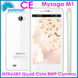 Quad Core Android Smartphones Original Mysaga M1 With CE MTK6589 1.2GHz Phone Android 4.2 4.5 inch 1280*720 8MP Camera Phone