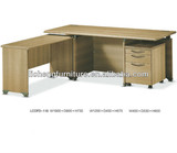 Executive office combined desk with wooden legs