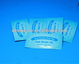 OEM teeth cleaning wipe,finger teeth whitening wiper mint flavor