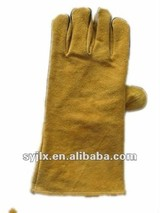 leather welding working gloves/leather work gloves/working leather glove/safety glove leather work gloves/working leather glove