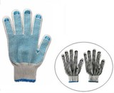 PVC dotted cotton knitted gloves/safety gloves/Cotton knitted gloves with PVC dots/knitted gloves/10 Gauge Knitted Gloves