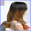 2014 Hot sale top quality two tone color natural wave Brazilian virgin hair lace front wig