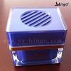 50ml blue square Plastic jar for car air freshener