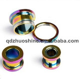 2013 fashion anodized titanium stainless steel ear tunnel body piercing jewelry