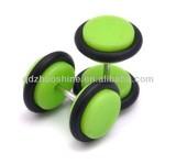 uv acrylic green fake ear plug with two o-rings
