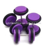 Cute acrylic fake ear plugs earring plugs with two o-rings