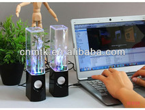 High quality MOQ 10Pair LED Dancing Water Speaker for retail
