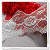 Fashion knitted lace white stretch lace trim for dress