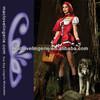 Maclove ML5243 Hot Sale Deluxe 3PCS Little Red Riding Hood Adult Women's Dress Party Womens Halloween Costumes