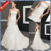 2014 Strapless rhinestone beading A-line taffeta wedding dresses A-W005