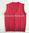 100%lamswool knitted vest sleeveless sweater