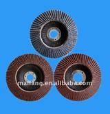 brown aluminium oxide flap disc with shaft