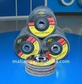 Aluminum Oxide polishing disc 80# non woven abrasive flexible disc