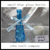 Low Price Tempered Blue Transparent Decorative Small Blue Glass Bottle