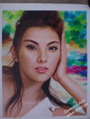 High quality Beautiful Girl Portrait Canvas Oil Painting
