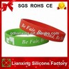 Printed silicone wristband, custom silicone bracelet for gift