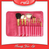 MSQ 2014 best seller 10 pcs pink goat hair makeup brush set