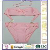 High Quality Fashion Sexy Women Swimwear Padded Fringe Bandeau Top Strapless Lady Bikini Beachwear S005