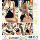 Hot Sale Summer Fashion Ladies Sexy One Piece Swimsuit Girls Halter Padded Swimwear M-XXXL Woman Cut Out Bathing Suit Beachwear