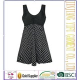 2013 New Spa Plus Size One-piece Dress Swimsuit Middle Aged And Elderly Women Swimwear 6xl Swimming Suit 1201