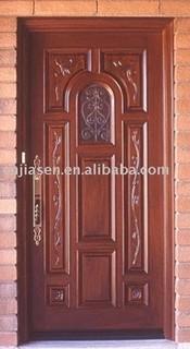exterior carved door