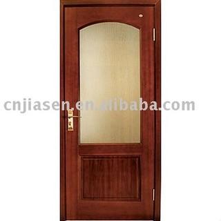 glazed woodenly door