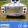 Kingsa hard floor camper trailer with stainless steel camper trailer kitchen