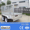 Kingsa hot dip galvanised cage trailer with rotatable rear door