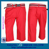Men's woven shorts colorful shorts red PS1206