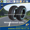 Commercial Car Tires with White Sidewall