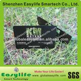 matt black laser cut out metal card