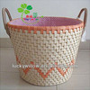 Corn husk storage basket with handles for hotel wholesale