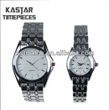 fashion alloy case watches stainless steel back