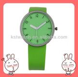 top fashion lady PU leather strap watch