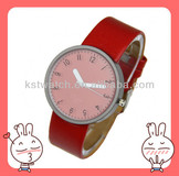 leather bracelet genuine lady quartz watch