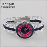Cheap plastic watches ladies from China