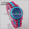 Lady plastic strap watch mechanical