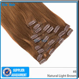 Good quality Indian clip in Colored hair extensions 75g Net Hair #1 #2 #4 Available