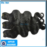 Thick ends Indian Remy Weft Human Hair Extensions Machine Sewn 100% Virgin