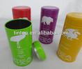 Metal tea tin can with customized designs